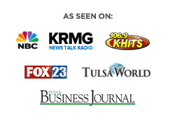 As seen on NBC KRMG KHits Tulsa Business Journal Fox23 Tulsa World